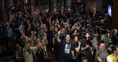 villanova fans celebrating