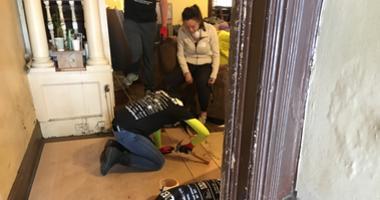Rebuilding Philadelphia Together volunteers in action.
