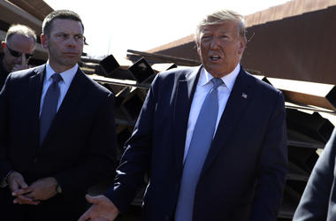 President Donald Trump and acting Homeland Secretary Kevin McAleenan