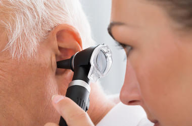 Ear pain getting check out by doctor.
