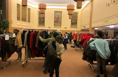Our Closet PA's coat drive.