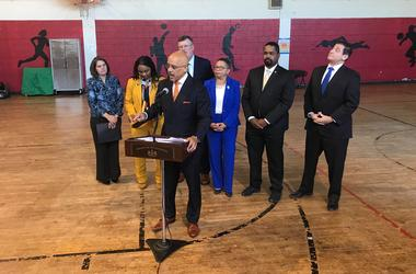 Pennsylvania Sen. Vincent Hughes was at the West Philadelphia Community Center on Tuesday to announce a state-funded grant that will create jobs for Philadelphia teens.