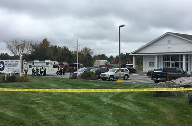 A suspect is in custody after a Saturday shooting at a New Hampshire church, police said.