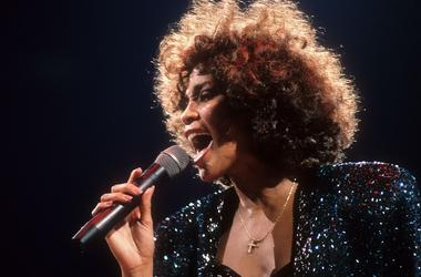 Whitney Houston in concert at Madison Square Garden in New York City, NY on September 8, 1987.
