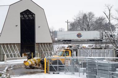 A PennDOT salt storage area on January 13, 2019.