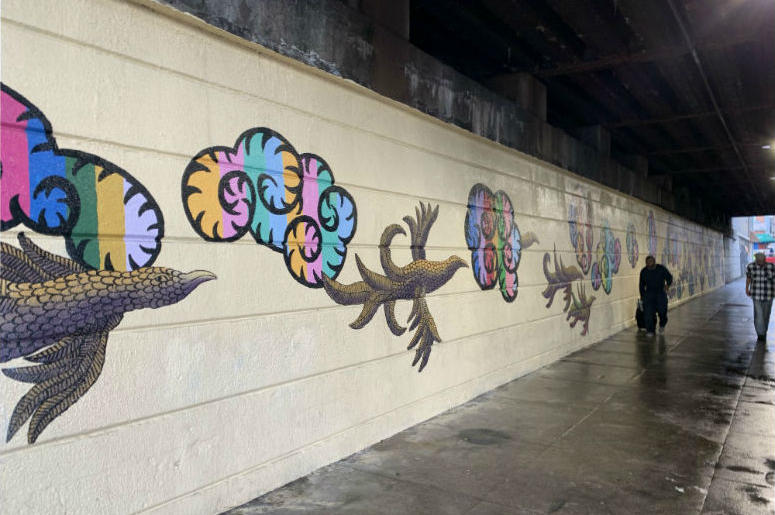In Kensington, new mural adorns wall in area that used to be drug encampment