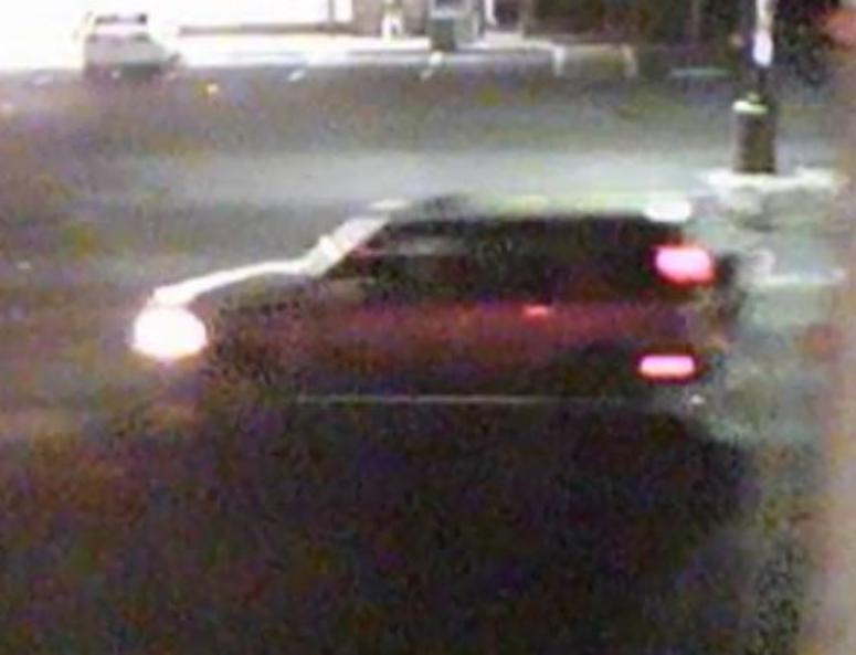 Police say a man was hit by two cars while crossing the street early Wednesday morning. They're searching for the driver of this car, which fled the scene.