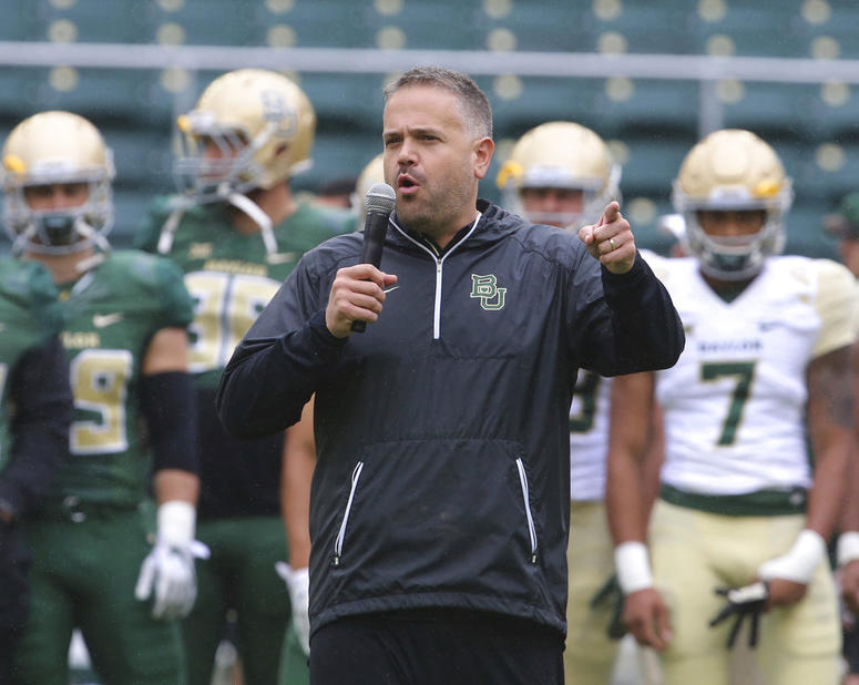 Matt Rhule, who used to coach at Temple, said he believes educating every man in his program about fatherhood is part of his job.