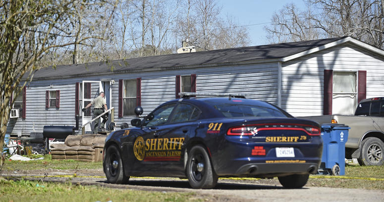 Officials say the Saturday morning shootings happened in Ascension and Livingston parishes, about 70 miles (113 kilometers) west of New Orleans.