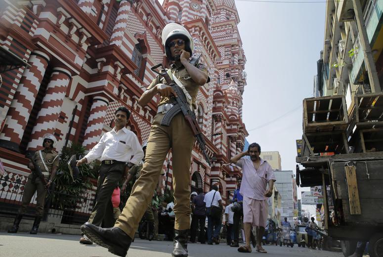 A Sri Lankan police officer.