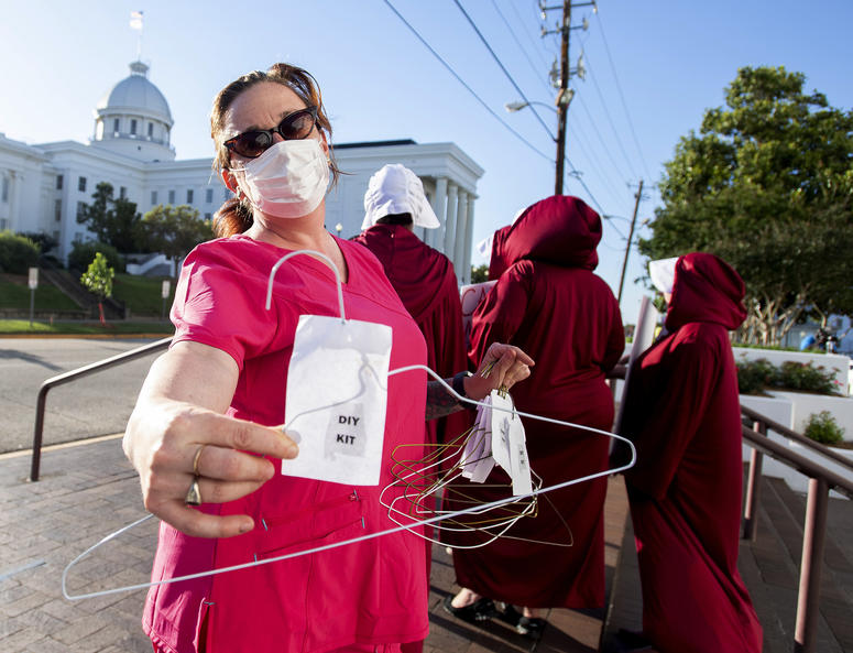 Abortion advocates protest