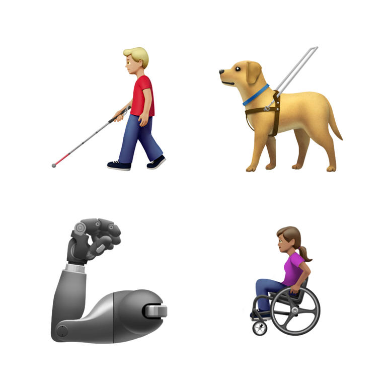 This image provided by Apple shows new emoji's released by Apple.