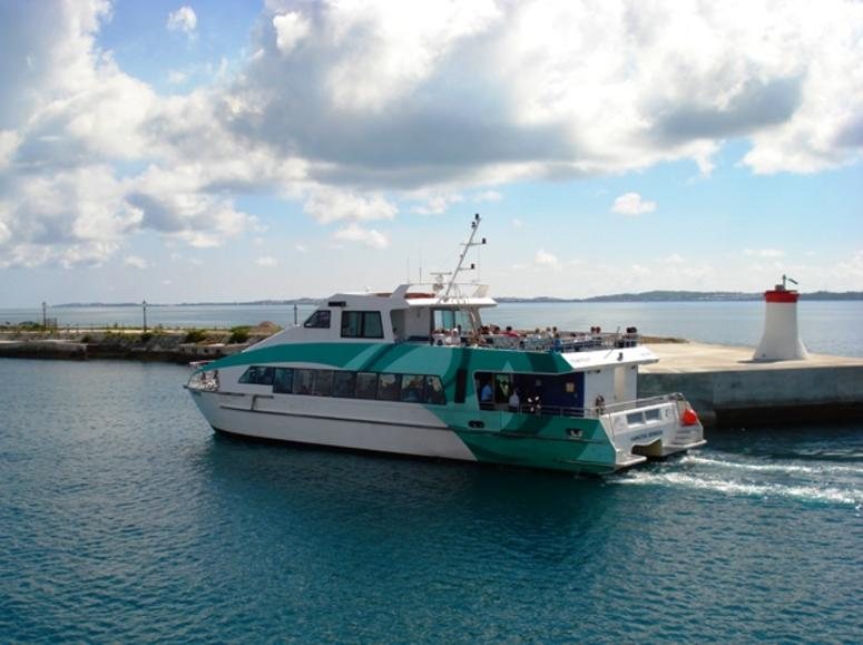 A ferry in Bermuda