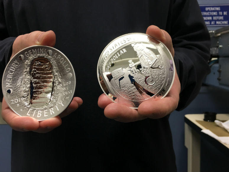 Next year will mark the 50th anniversary of Apollo 11's historic flight to the moon, and the US Mint will be issuing commemorative coins to honor Apollo's three-man crew.