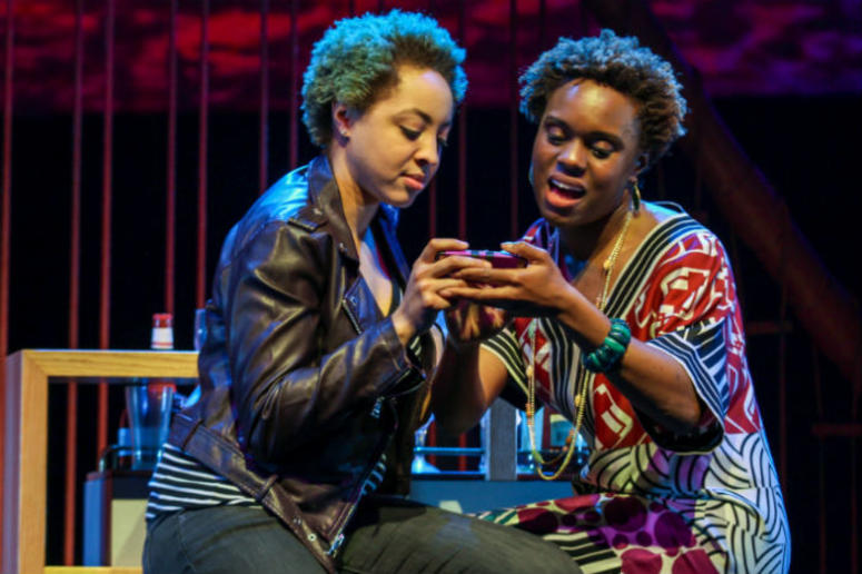 """Shayna Small and Stephanie Weeks in """"How to Catch Creation"""" at the Philadelphia Theater Company."""