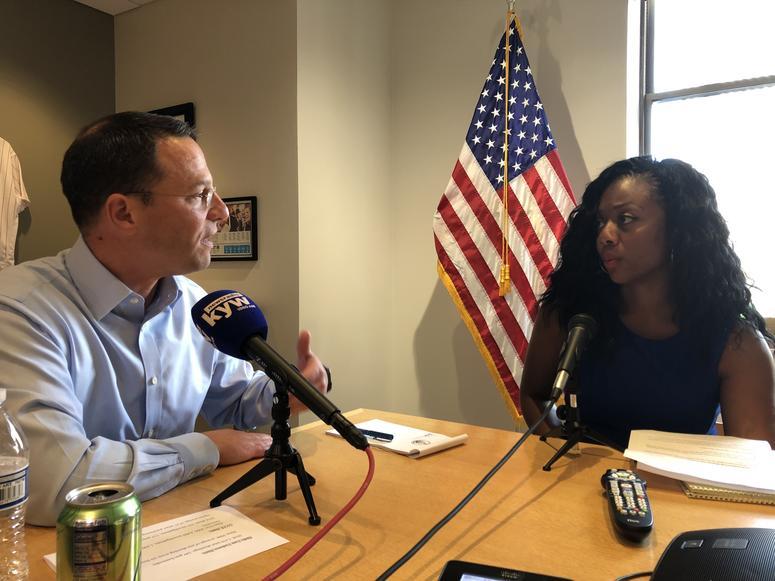 Pennsylvania Attorney General Josh Shapiro and Cherri Gregg