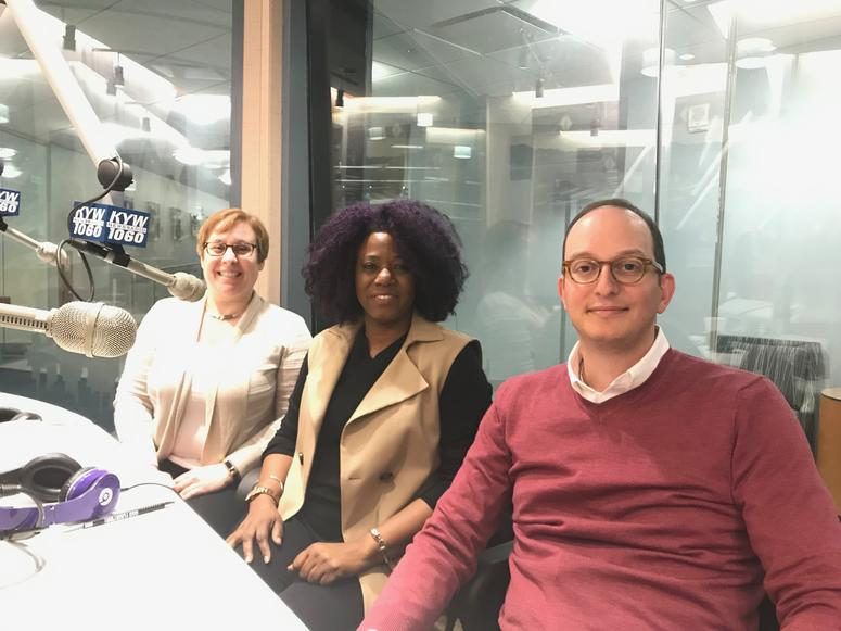 (L to R) Shira Goodman, Serita Lewis, Jonathan Goldstein