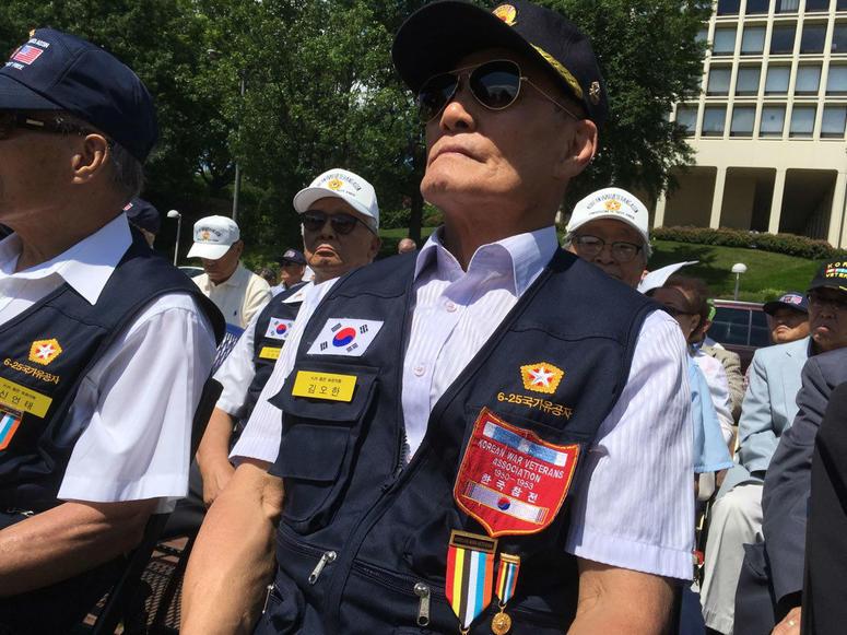 John Rim, president of the Korean War Veterans Association, Philadelphia
