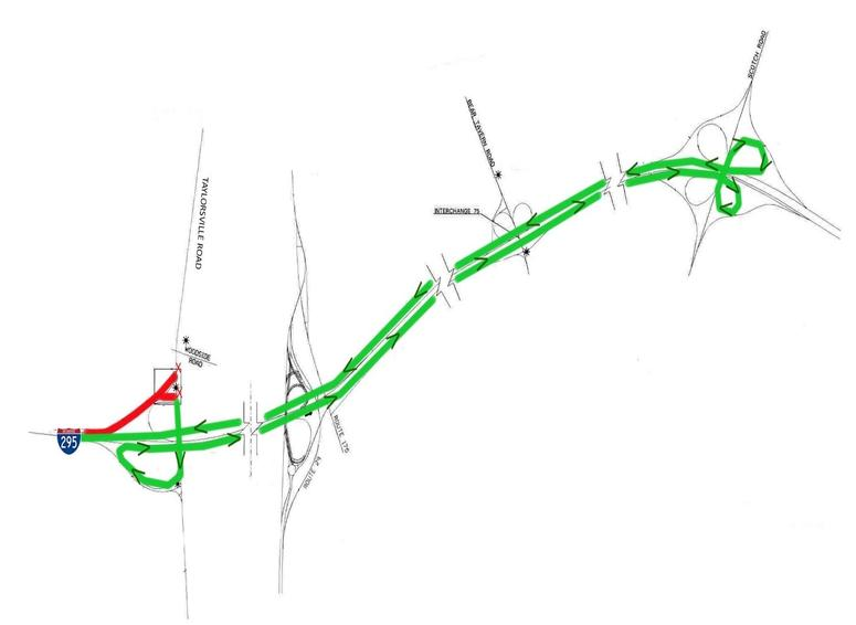 24/7 Closure/Detour Scheduled to Begin Wednesday, May 29 At Taylorsville Road On-Ramp to I-295 West