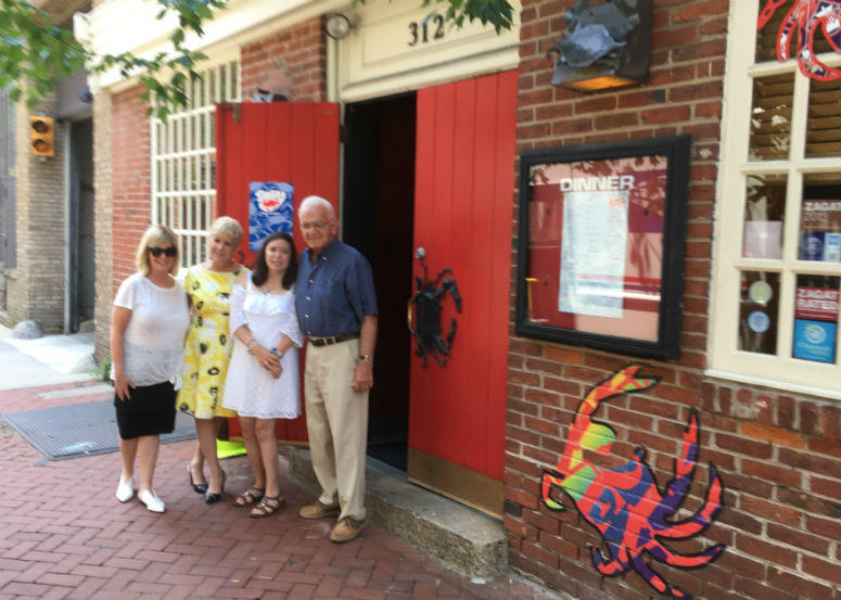 Employees of Dinardo's, from left: Kathie Haas; Liz Massimo, owner; Gina Massimo; and Ralph Patrone, owner