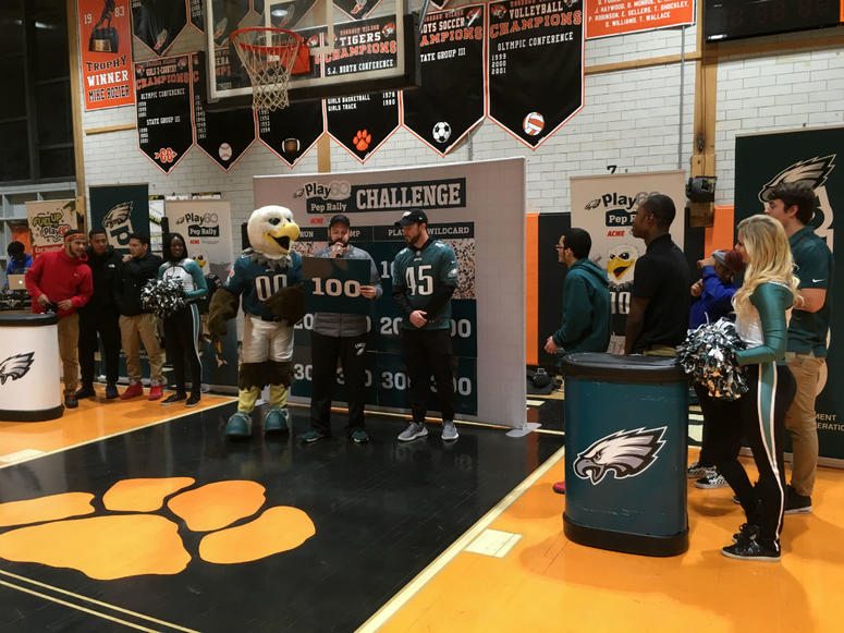 Woodrow Wilson High School students cheered on classmates in a game-show-style competition.