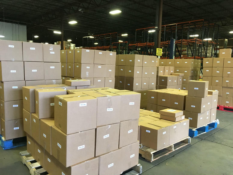 The pies were stored at the Philabundance warehouse in North Philadelphia, before they were delivered to over 50 distribution locations throughout the area.