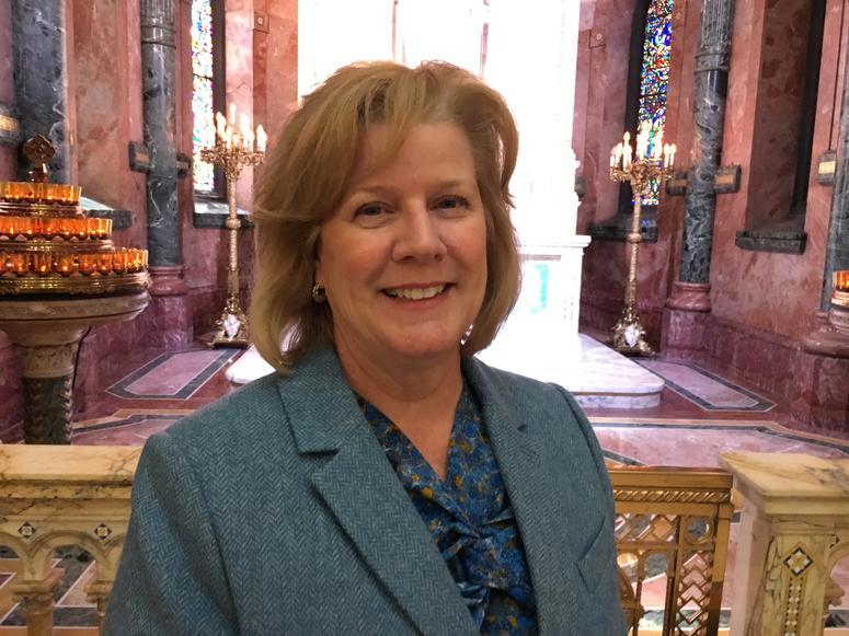 Mary Jo Timlin-Hoag is the first female president and C-E-O of the Miraculous Medal Shrine in Philadelphia's Germantown neighborhood.