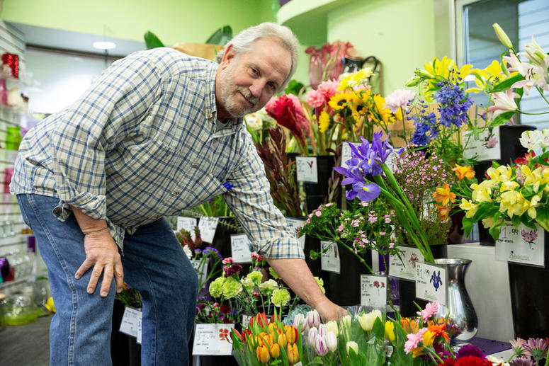 Butch Foley, owner of The Philadelphia Flower Market.