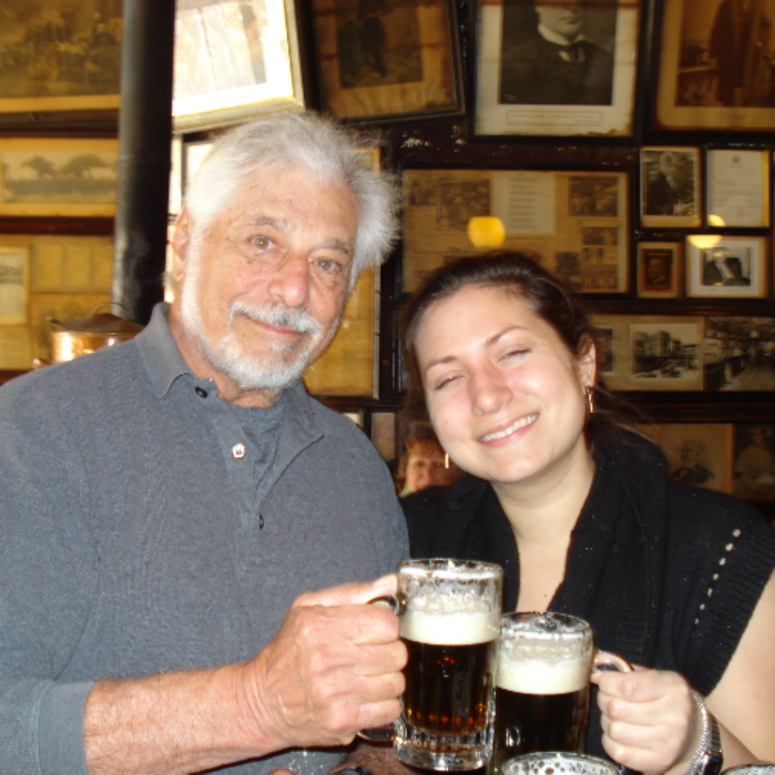 Daughter and Dad at McSorleys