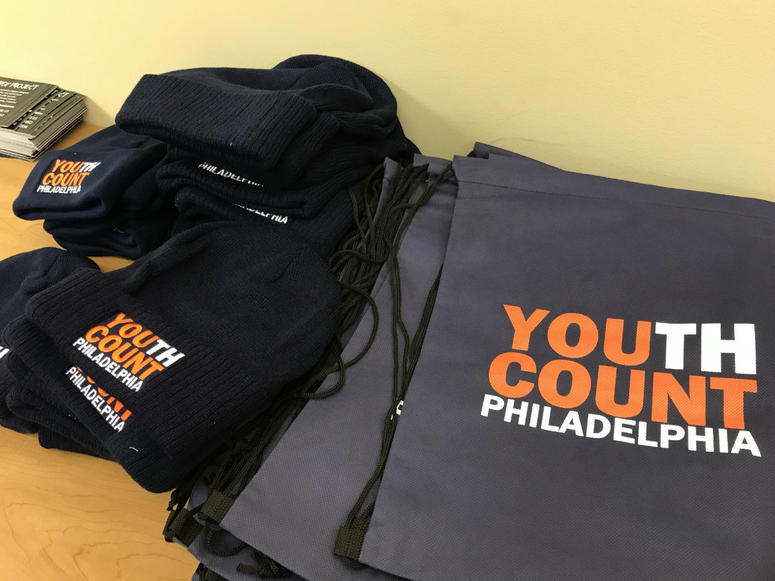 Youth Count volunteers received hats and bags for their efforts.