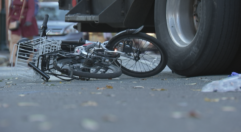 Bicyclist Emily Fredricks was struck by a recycling truck in 2017 and killed.