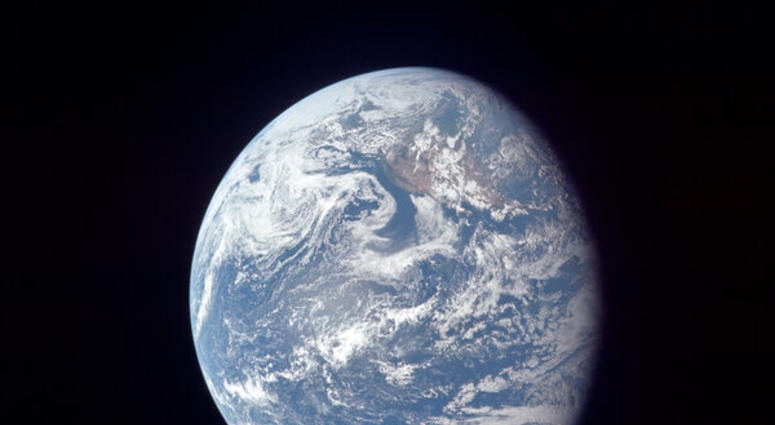 The Earth as seen from 49,000 nautical miles above the surface.