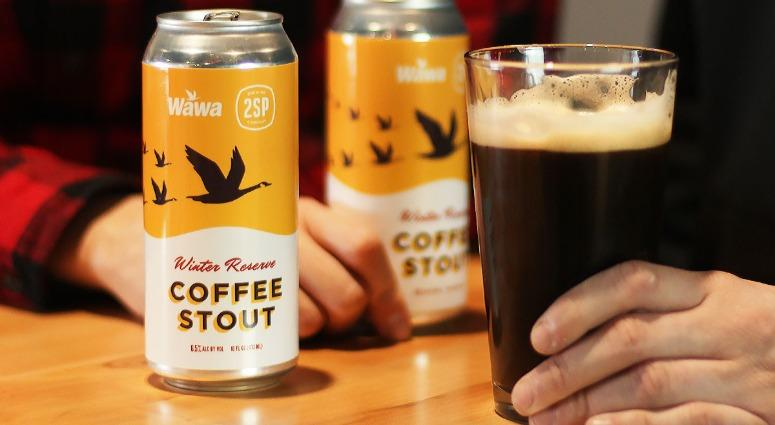 The Winter Reserve Coffee Stout uses Wawa's new Winter Blend coffee.