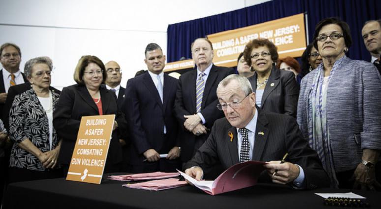 Gov. Phil Murphy signs several landmark gun safety bills into law.