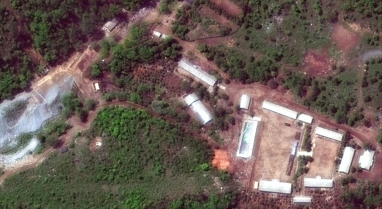 North Korea has carried out what it says is the demolition of its nuclear test site in the presence of foreign journalists.