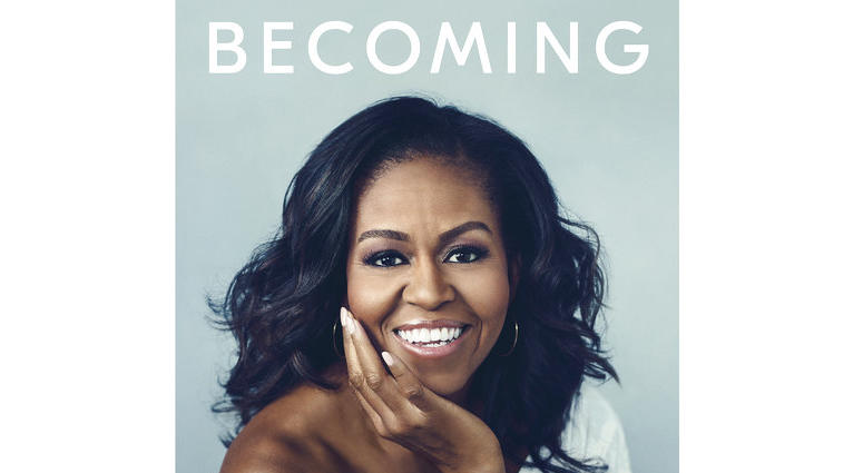 "This cover image released by Crown Publishing Group shows ""Becoming,"" by Michelle Obama, which comes out Nov. 13."
