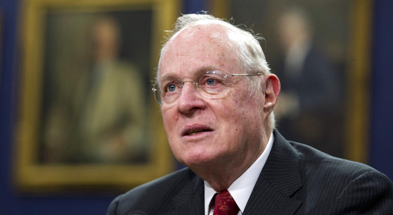 In this March 23, 2015, file photo, Supreme Court Associate Justice Anthony Kennedy testifies before a House Committee on Appropriations Subcommittee on Financial Services hearing on Capitol Hill.