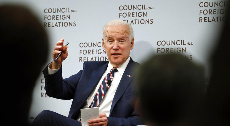 In this Jan. 23, 2018, file photo, former Vice President Joe Biden speaks about U.S. relations with the Kremlin at the Council on Foreign Relations, in Washington.