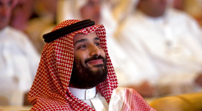 Saudi Crown Prince, Mohammed bin Salman, smiles as he attends the Future Investment Initiative conference, in Riyadh, Saudi Arabia, Tuesday, Oct. 23, 2018.