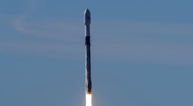 In this photo provided by the U.S. Air Force, a SpaceX Falcon 9 rocket, carrying the Spaceflight SSO-A: SmallSat Express, launches from Space Launch Complex-4E at Vandenberg Air Force Base, Calif., Monday, Dec. 3, 2018.