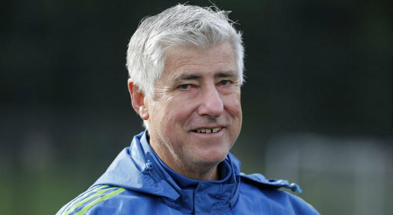 FILE - In this Oct. 27, 2015, file photo, Seattle Sounders coach Sigi Schmid walks off the field following an MLS soccer training session in Tukwila, Wash. Schmid, the winningest coach in MLS history, has died.