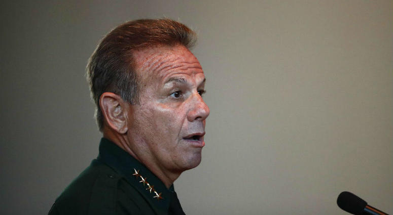 FILE - In this Thursday, Nov. 15, 2018, file photo, Broward County Sheriff Scott Israel speaks before the state commission in Sunrise, Fla.