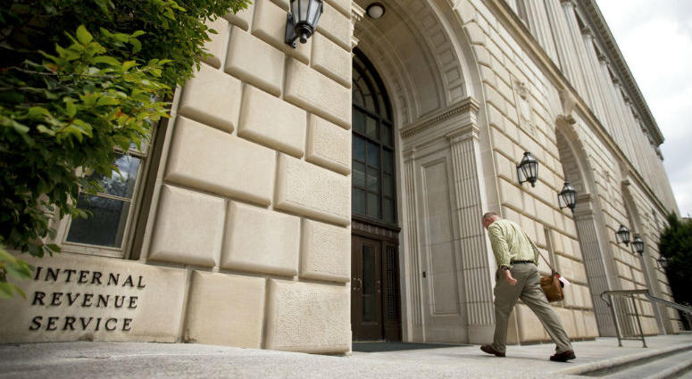 FILE- In this Aug. 19, 2015, file photo the Internal Revenue Service Building in Washington.