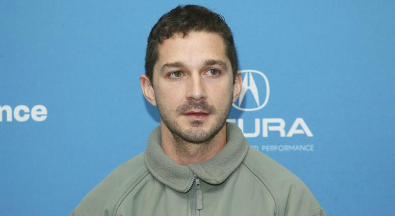 """Actor Shia LaBeouf poses at the premiere of """"Honey Boy"""" during the 2019 Sundance Film Festival, Friday, Jan. 25, 2019, in Park City, Utah."""
