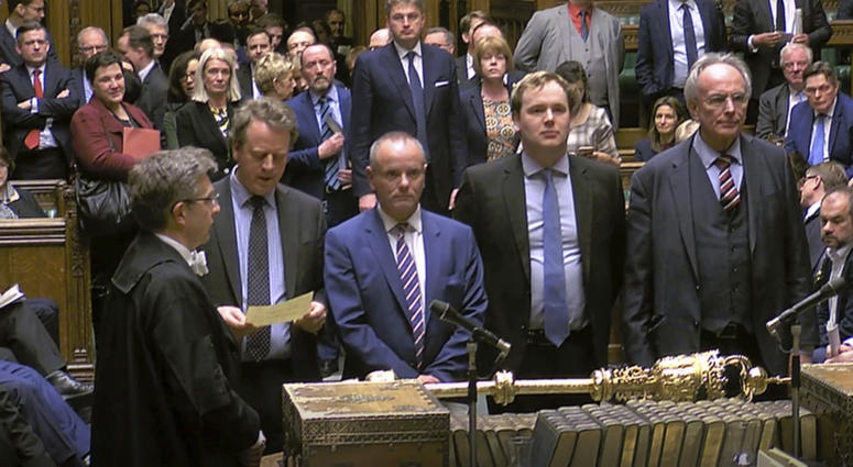 MPs announce the result of the Brexit vote