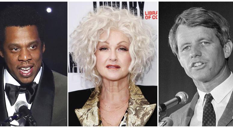 From left: Jay-Z, Cyndi Lauper, Sen. Robert F. Kennedy