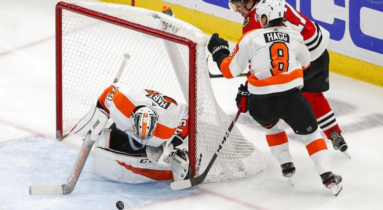 Philadelphia Flyers versus Chicago Blackhawks