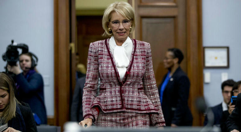 Advocates Demand Devos Protect Students >> Devos Defends Plan To Eliminate Special Olympics Funding Kyw