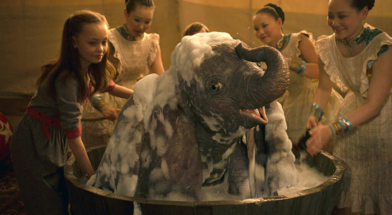 """This image released by Disney shows Nico Parker, left, in a scene from """"Dumbo."""""""