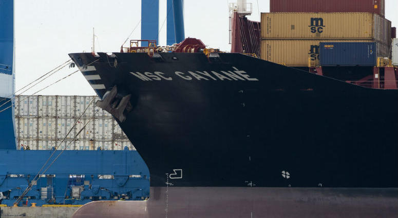 U.S. authorities have seized more than $1 billion worth of cocaine from a ship at a Philadelphia port.